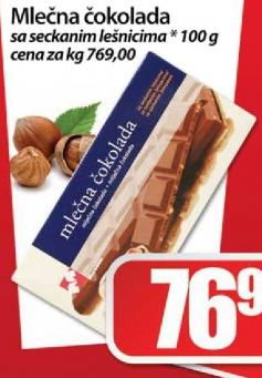 Čokolada seckani lešnici