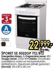 Šporet SE 5022GP TT2/BT2