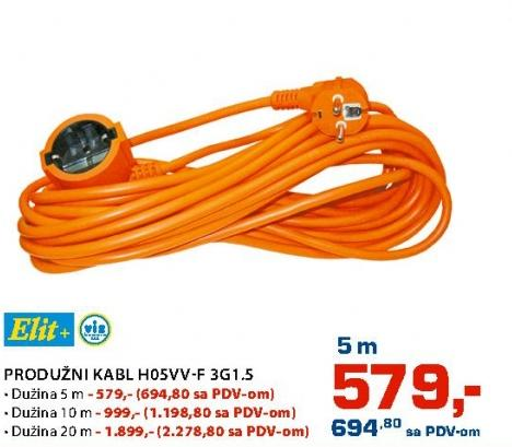 Produžni kabl 10m H05vv-f3g1.5