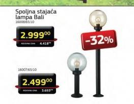 Spoljna stajaća lampa Bali