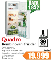 Kombinovani frižider DFR2600AL