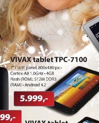 """Tablet 7"""" Vivax TPC-7100"""