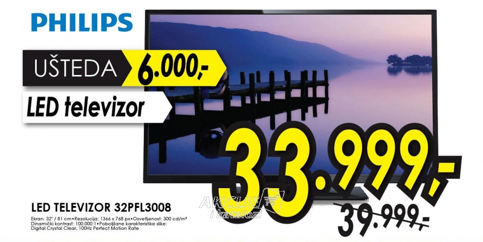 Televizor LED LCD 32PFL3008H/12