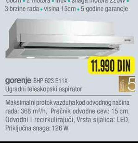 Aspirator BHP 623 E11X