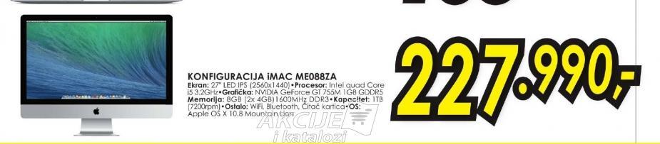 Konfiguracija iMac ME088Z/A