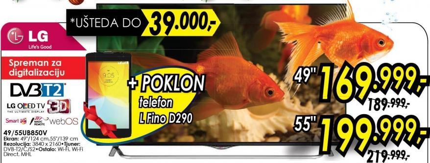 """Televizor LED 49"""" 3D 49ub850v"""