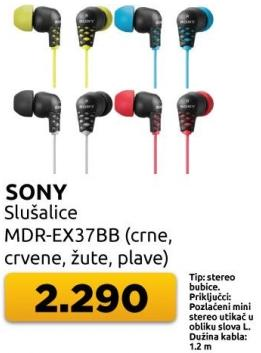 Slušalice Mdr-ex37bb
