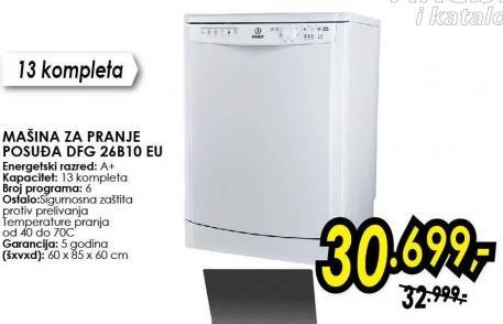 Mašina za pranje posuđa Dfg 26b10 Eu