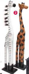 Drvena figura AFRICA
