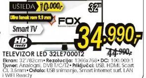 Televiozor LED Tv 32LE7000T2