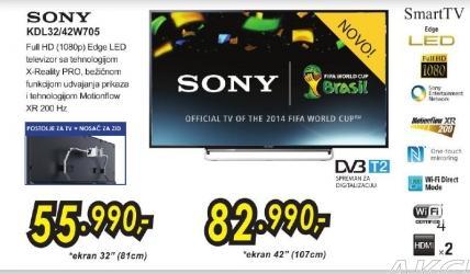 """Televizor LED 42"""" Kdl42w705"""