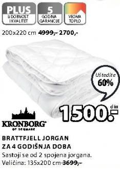 Jorgan Brattfjell 200x220cm
