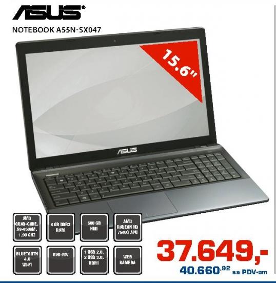 Notebook A55N-SX047