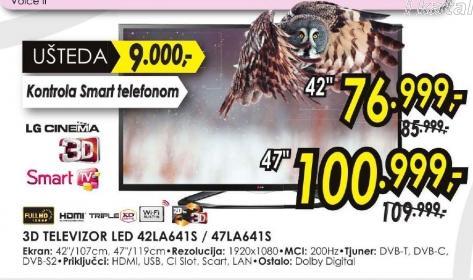 Televizor LED 42LA641S