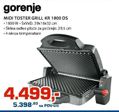 Grill Toster KR 1800DS