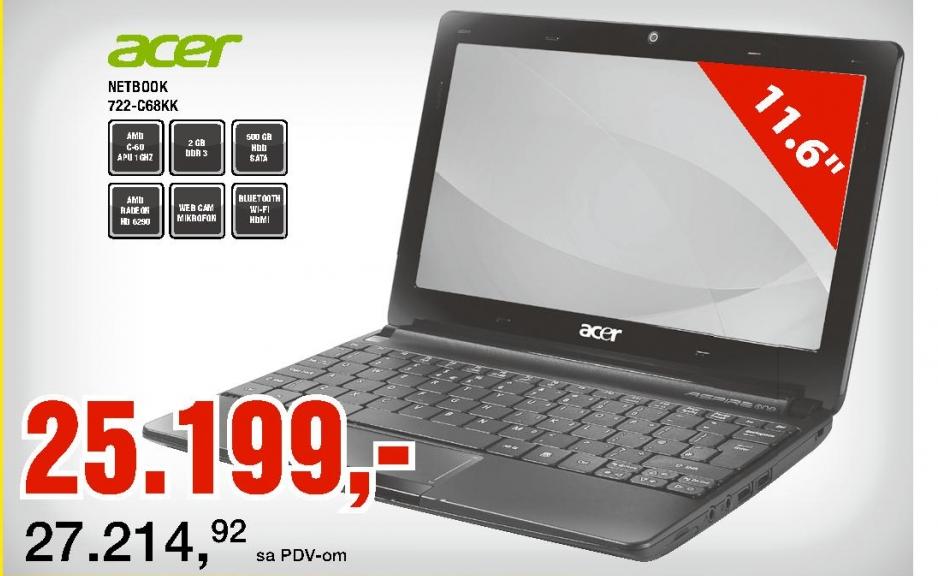 Netbook 722-C68KK