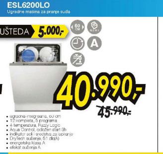 Ugradna sudomašina ESL 6200LO