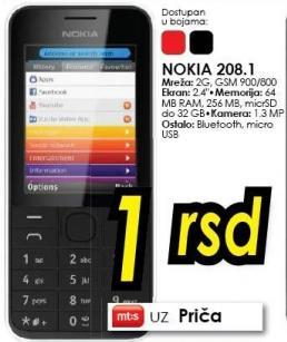 Mobilni telefon 208.1