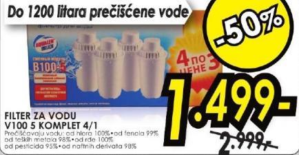 Filter za vodu V100 5 komplet 4/1