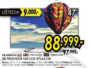 Televizor LED LCD 47LA6130