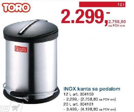 Kanta za smeće sa pedalom 20l Toro