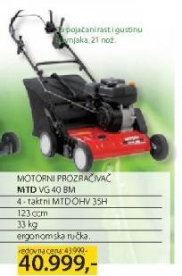 Motorni prozračivač MTD VG 40 BM