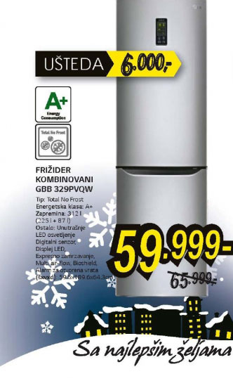 Frižider kombinovani GBB-329PVQW