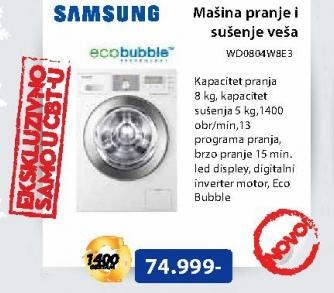 Maš za pranje/sušenje veša WD0804W8E3