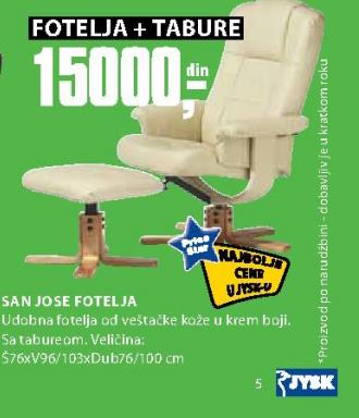 Fotelja San Jose + tabure