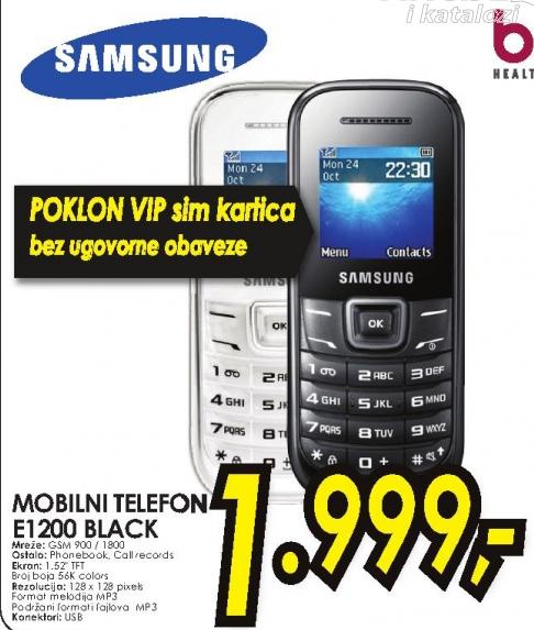 Mobilni telefon Pusha E1200 BLACK