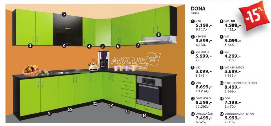 Kuhinjski element V80 Dona