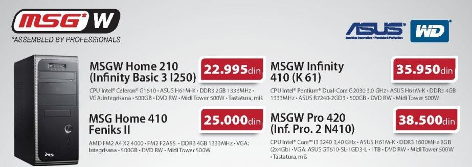 Računar MSGW Home 210 Infinity Basic 3 I250