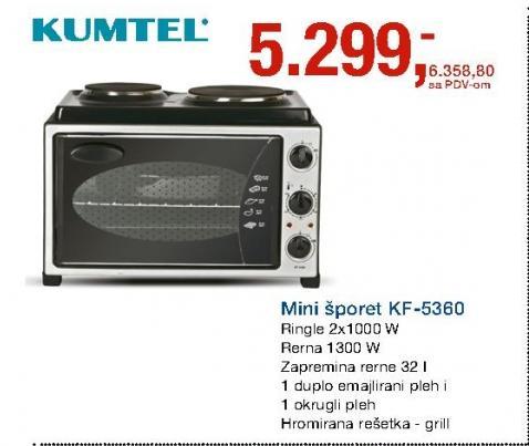Mini Šporet KF-5360 KUMTEL
