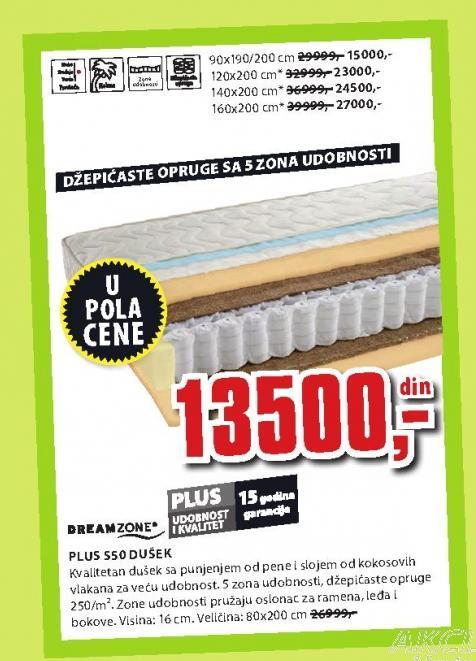 Dušek Plus S50 160x200