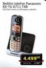 Bezicni telefon KX-TG 6711 FXB