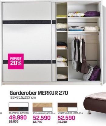 Garderober Elegant Merkur 270