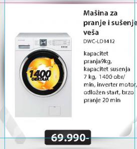 Mašina za pranje i sušenje veša DWC-LD1412