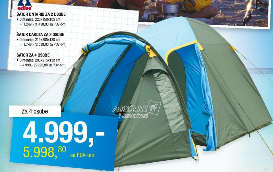 Šator Ontario za 2 osobe