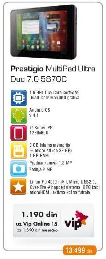 Tablet Multipad Ultra Duo 7.0 5870c