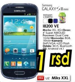 Mobilni telefon Galaxy SIII mini i8200