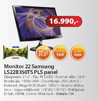 Monitor S22B350TS