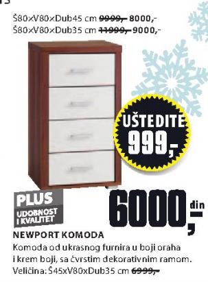 Komoda NewPort, 80x80x35cm