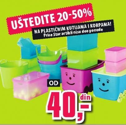 Uštedite 20 do 50 posto na plastičnim kutijama