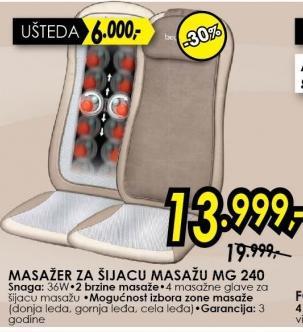 Šijacu Masažer Mg 240