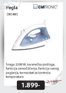 Pegla na paru - DB 3485
