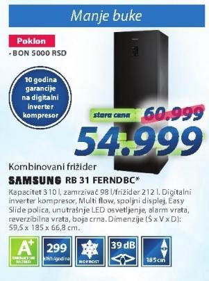 Kombinovani frižider Rb 31 Ferndbc