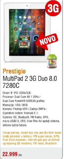 Tablet Multipad 7280C 3G Duo