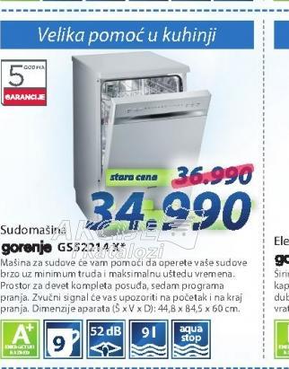 Mašina za pranje sudova GS52214X