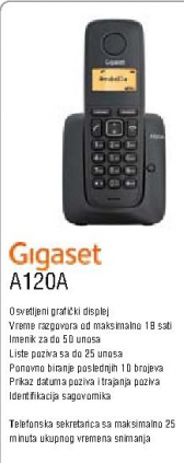 Bežični telefon A120A G