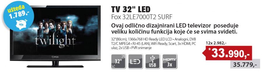 LED Televizor 32LE7000T2 SURF